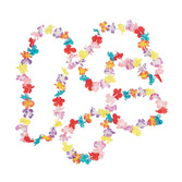 Luau Party Wear Mini Multi Flower Leis Image