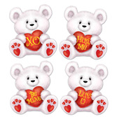Valentine's Day Decorations Mini Valentine Bear Cutouts Image