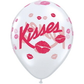 "Valentine's Day Balloons 11"" Kisses and Smooches Balloons Image"