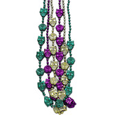 Mardi Gras Party Wear Comedy Tragedy Bead Necklace Image