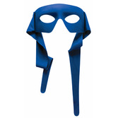 Mardi Gras Party Wear Blue Mask with Ties Image