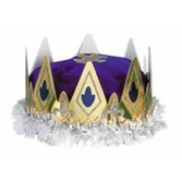 Mardi Gras Hats & Headwear Queen's Crown Purple Velour Image