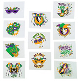 Mardi Gras Favors & Prizes Mardi Gras Glow in the Dark Tattoos Image