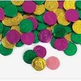 Mardi Gras Favors & Prizes Mardi Gras Bubble Gum Coins Image