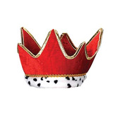 Mardi Gras Hats & Headwear Red Plush Royal Crown Image