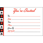 Casino Table Accessories Card Night Invitations Image