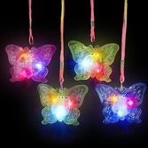 Glow Lights Flashing Butterfly Necklace Image