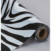 Jungle & Safari Table Accessories Zebra Table Roll Image
