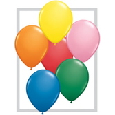 "Birthday Party Balloons 16"" Assorted Color Standard Balloons Image"