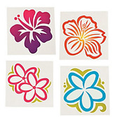 Luau Favors & Prizes Large Luau Flower Tattoos Image