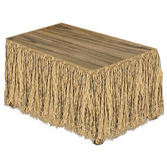 Luau Table Accessories Raffia Table Skirt Image