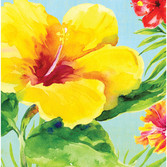 Luau Table Accessories Heavenly Hibiscus Luncheon Napkins Image