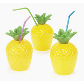 Luau Table Accessories Pineapple Cup Image