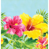 Luau Table Accessories Heavenly Hibiscus Tablecover Image