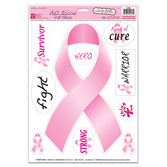Decorations Pink Ribbon Clings Image