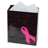 Gift Bags & Paper Pink Ribbon Gift Bags Image