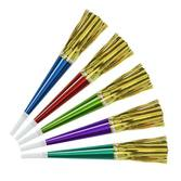 New Years Favors & Prizes Assorted Color Horn with Gold Fringe Image