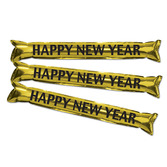 New Years Favors & Prizes Happy New Year Black and Gold Party Sticks Image
