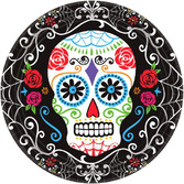 Day of the Dead Table Accessories Sugar Skull Dinner Plates Image