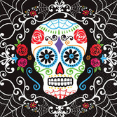Day of the Dead Table Accessories Sugar Skull Lunch Napkins Image