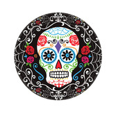 Day of the Dead Table Accessories Sugar Skull Dessert Plates Image