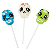 Day of the Dead Favors & Prizes Day of the Dead Frosted Swirl Suckers Image