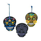 Day of the Dead Favors & Prizes Day of Dead Scratch Ornaments Image