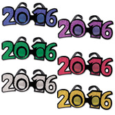 New Years Party Wear 2016 Plastic Glittered Glasses Image