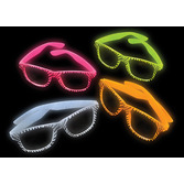 Jungle & Safari Favors & Prizes Glow in the Dark Zebra Glasses Image