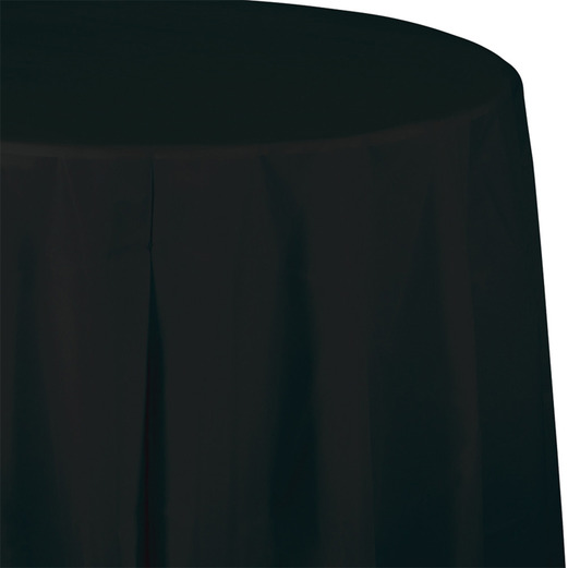 New Years Table Accessories Round Table Cover Black Image