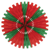Christmas Decorations Red-Green Tissue Fan Image