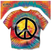Birthday Party Favors & Prizes Tie Dye Peace Shirt Sticker Image