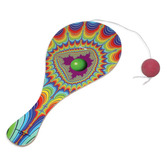 60s & 70s Favors & Prizes Psychedelic Paddle Balls Image