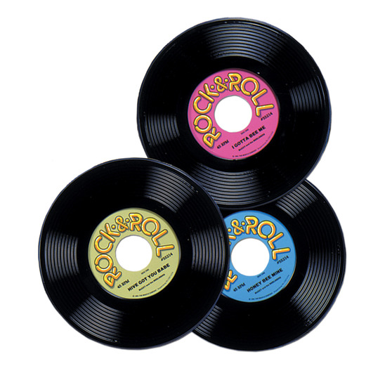 Fifties Decorations Plastic Records Image