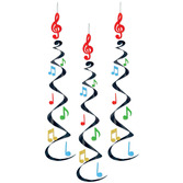 Fifties Decorations Musical Note Whirls Image