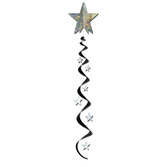 New Years Decorations Jumbo Star Whirl Black and Silver Image