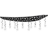 New Years Decorations Silver Stars Are Out Ceiling Decor Image