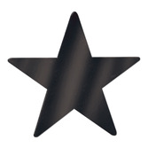"""New Years Decorations 12"""" Black Foil Star Image"""