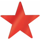 "4th of July Decorations 15"" Red Foil Star Image"