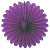 Mardi Gras Decorations Purple Mini Tissue Fans Image