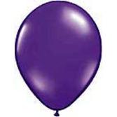 "Mardi Gras Balloons 11"" Quartz Purple Balloons Image"