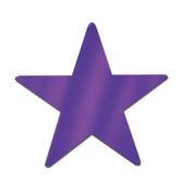"Mardi Gras Decorations 5"" Purple Foil Star Image"
