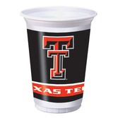 Sports Table Accessories Texas Tech Plastic Cups Image