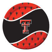 Sports Table Accessories Texas Tech Dinner Plates Image