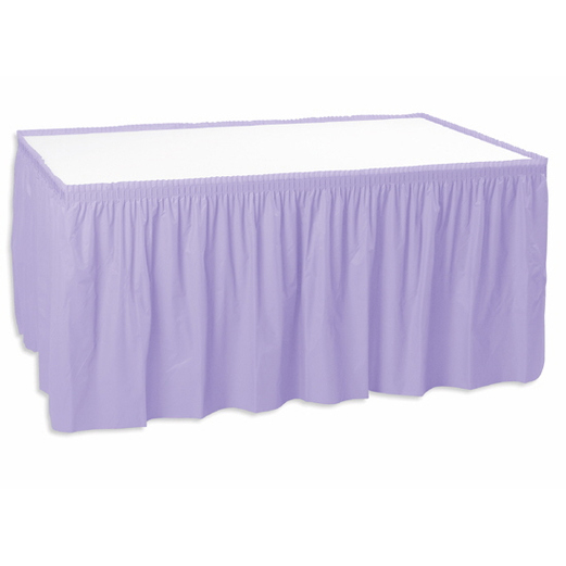 Baby Shower Table Accessories Table Skirt Lavender Image
