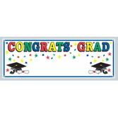 Graduation Decorations Congrats Grad Sign Banner Image