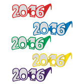 New Years Party Wear 2016 Foil Glittered Glasses 50pk Image