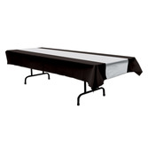 New Years Table Accessories Black and Silver Tablecover Image