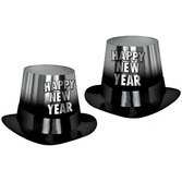 New Years Hats & Headwear Silver Entertainer Top Hat Image