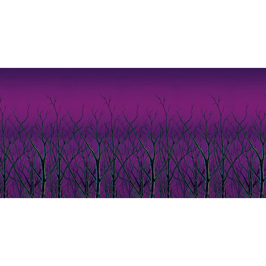 Halloween Decorations Spooky Forest Treetops Backdrop Image